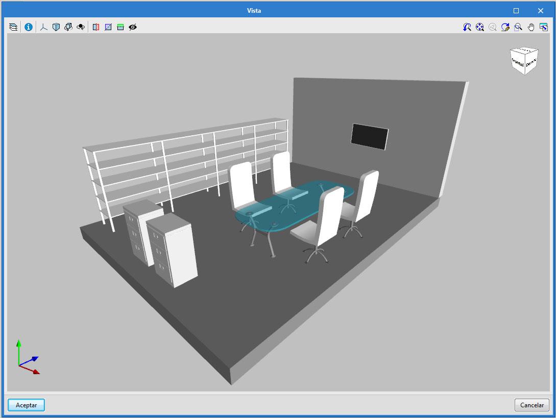 Open BIM Office Furniture. Interface da aplicação
